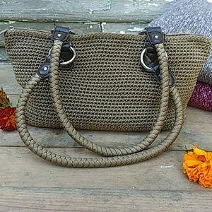 New CROFT & BARROW Woven Cotton Shoulder Bag